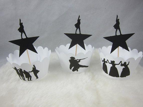 12 Hamilton Musical Cupcake Picks Alexander Hamilton Star