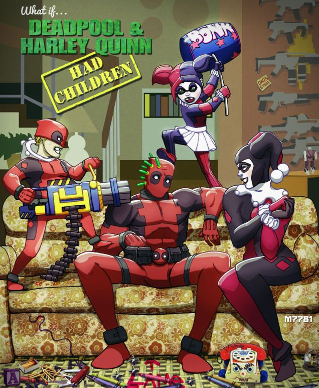 Another age old question has been answered dc and marvel - Deadpool harley quinn notebook ...