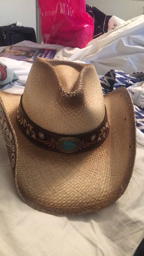 Stampede brand cowgirl hat. Embellishments on front and side. Never worn   fashion  clothing  shoes  accessories  womensaccessories  hats (ebay link) 1c246714e01