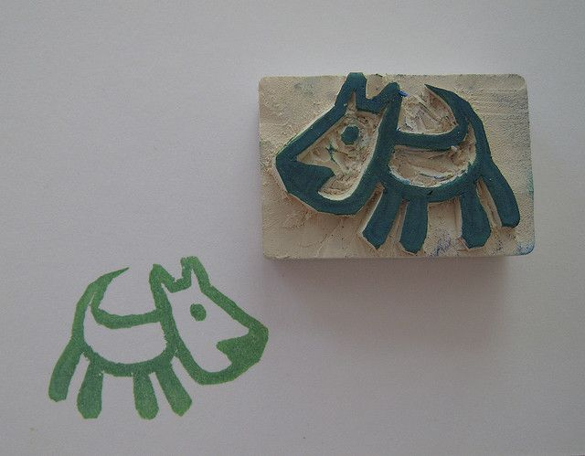 sello, sellos hechos a mano hand carved stamp perrito, dog