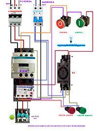 Esquemas eléctricos: Puesta en marcha de un motor con paro temporizado