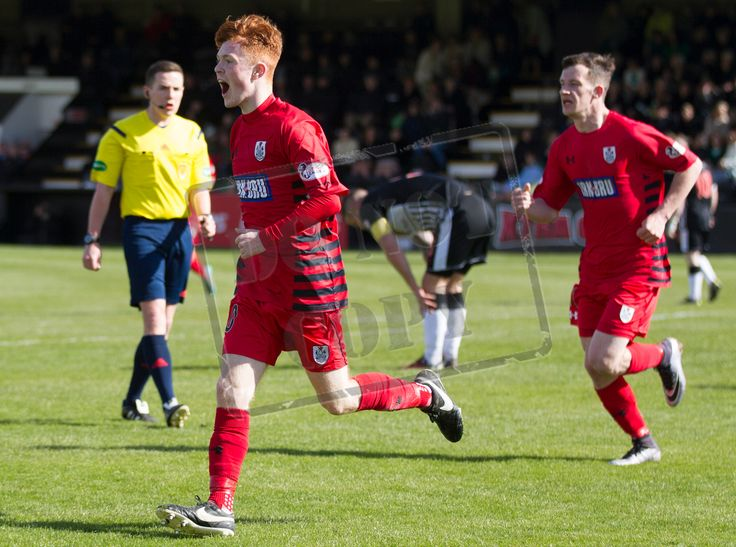 Queen's Park's Liam Brown celebrates his goal during the SPFL League Two game between Elgin City and Queen's Park.