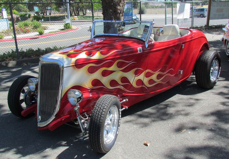 flamed 34 ford roadster | by bballchico