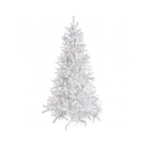 White Christmas Tree Artificial Pine 6 Feet 250 Clear Lights Home Decoration