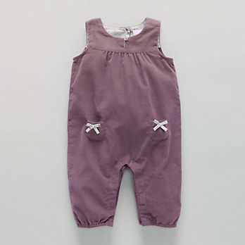 Soft Cord Baby Girl Dungarees | The White Company