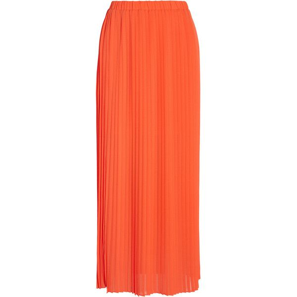 MICHAEL Michael Kors Pleated chiffon maxi skirt found on Polyvore