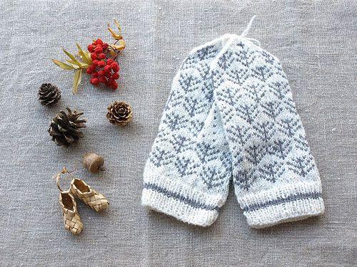 white gray mittens …
