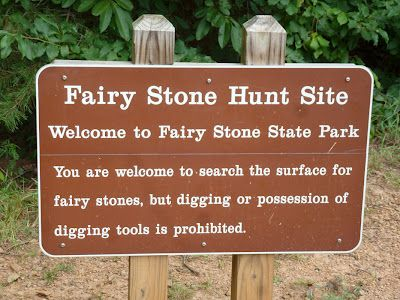 Fairy Stone Parking in Virginia - a place our parents took us to several times. We always purchased fairy stones - I still have earrings & a necklace.