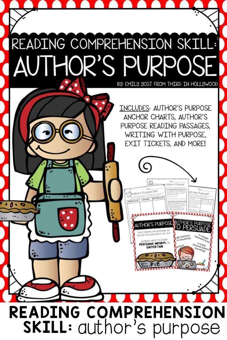 Author'S Purpose Cut Teaching Resources | Teachers Pay Teachers