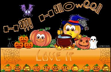 Halloween Love It  Pumpkins Witch Bat Ghost  animations animation animated gif gifs Happy Halloween smiley smilie smileys smilies photo HappyHalloweenPictureLoveIt.gif