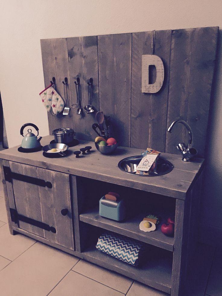 Steigerhout kinder keukentje