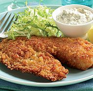 Crispy Breaded Tilapia with Classic Tartar Sauce...I know this is naughty, but once in a while it's OK...kd