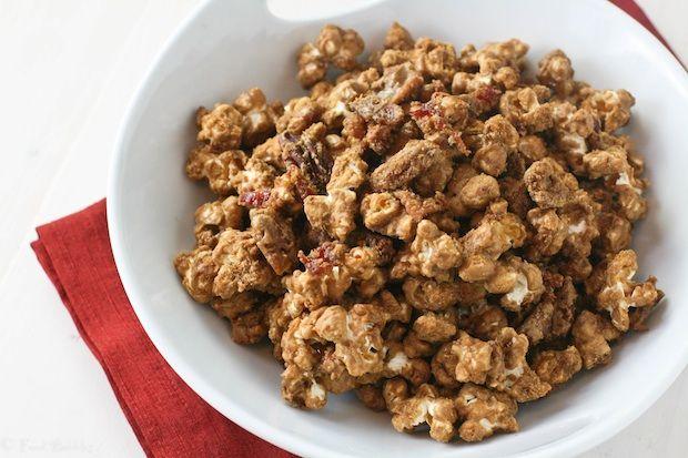 Maple Bacon Caramel Corn with Pecans | Recipe | Maple Bacon, Caramel ...