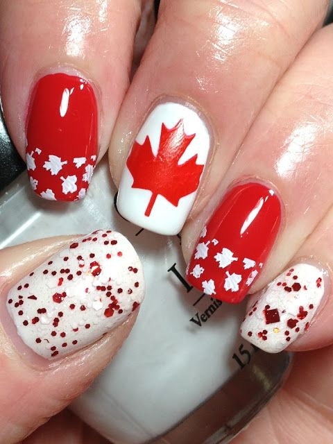 Canadian Nail Fanatic: Happy (Belated!) Canada Day!  stamped images look great