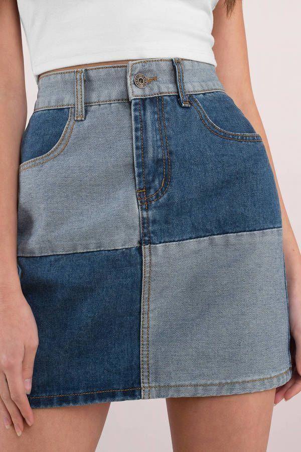 Patch it up jupe en jean