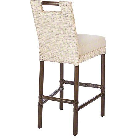 The Thomas Pheasant Woven Leather Bar/Counter Stool makes an elegant statement as well as being versatile and comfortably scaled.