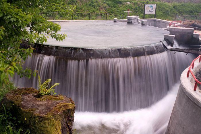 【富山】円筒分水漕 富山県内には4か所ある。 円筒分水工とも言うらしい。【富山ブログ】