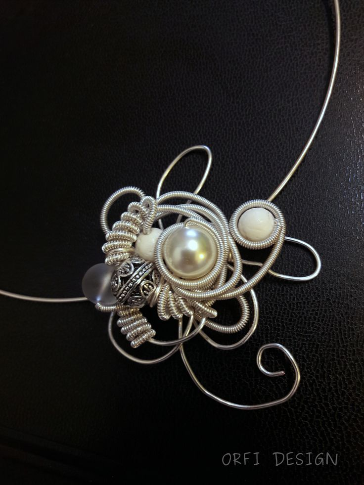 ice flower...wire wrapping jewelry...