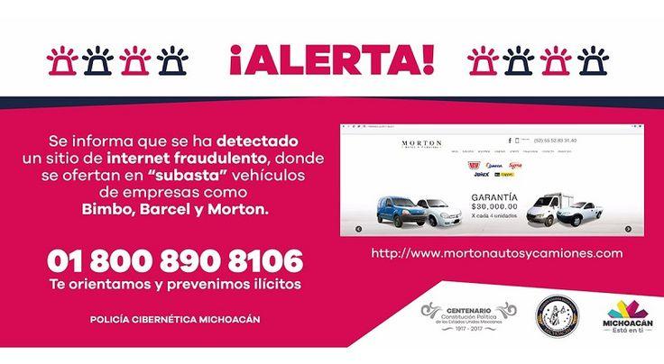 Se trata de dos sitios web en los que se ofertan mediante subastas vehículos de empresas comerciales; la Policía Cibernética alerta a la ciudadanía para que no se deje sorprender ...