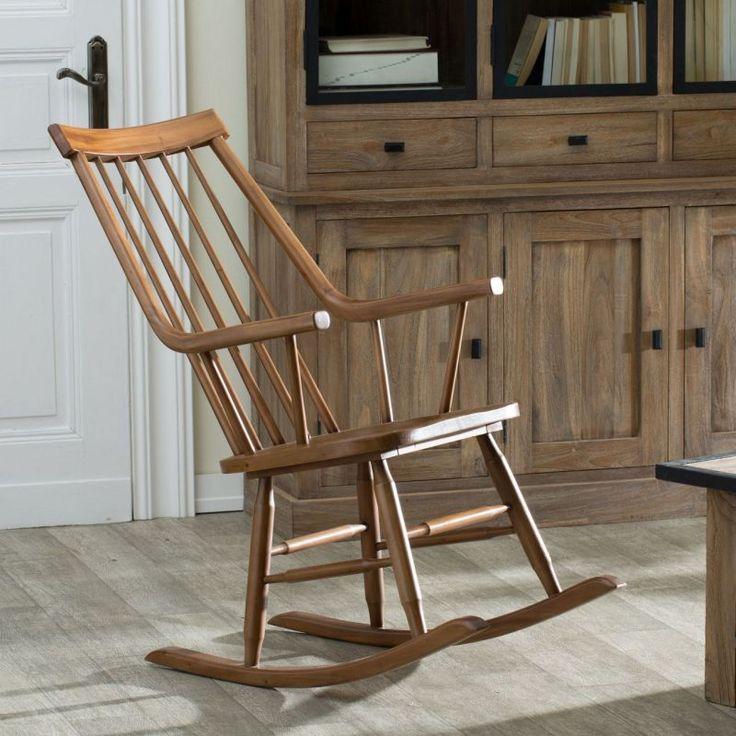 Fotel bujany Henry natural 54x44x114cm
