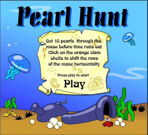 Get all the pearls through the maze!