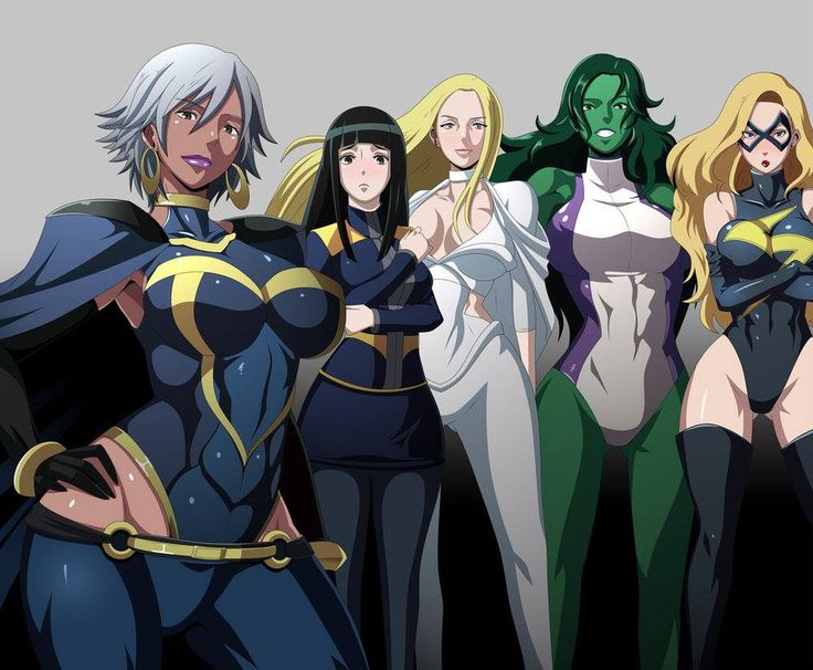 X Men Anime Characters : Storm armor emma frost she hulk ms marvel female comic