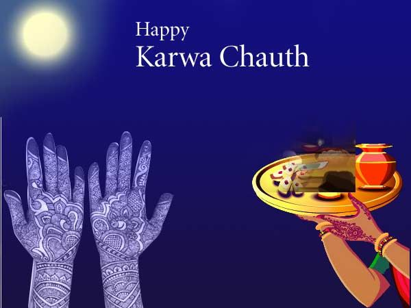 Hindi Best wish on Karwa Chauth Day