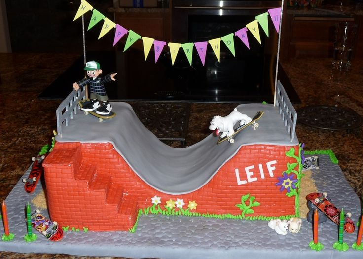 32 Best Skate Board Cakes Images On Pinterest