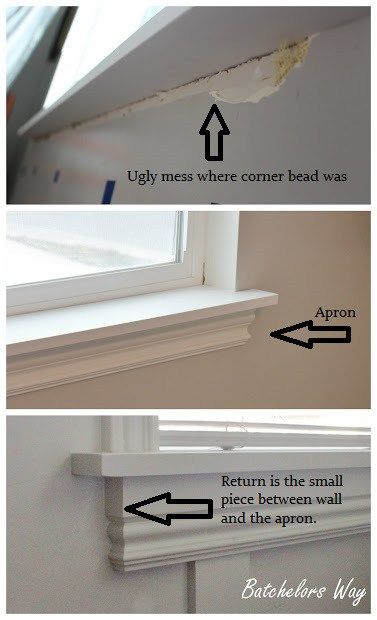how to install window trim, this lady has a great page with a ton of DIY projects