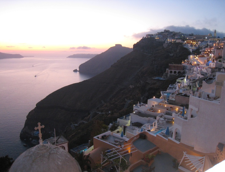 Actual view from our last night in Greece...