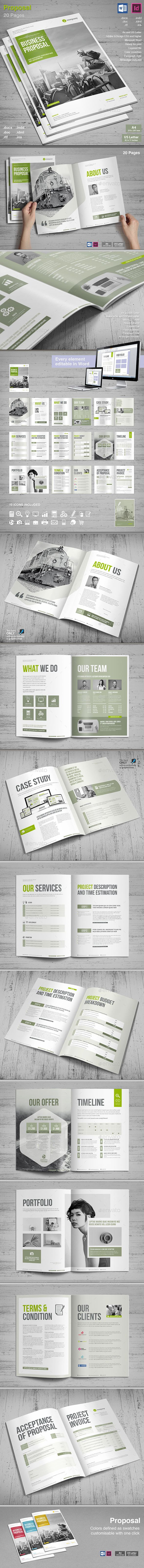 Proposal Brochure Template InDesign INDD, MS Word - A4 and US Letter