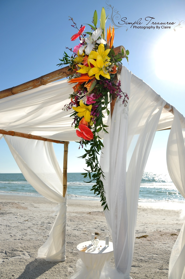 our bamboo canopy adds beauty and a tropical atmosphere to any beach wedding - Bamboo Canopy 2015