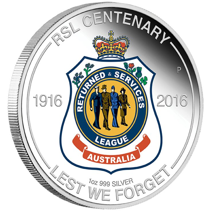 RSL Centenary 2016 1oz Silver Proof Coin