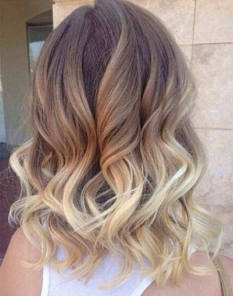 Tri Color Medium Hairstyle Curly Hairstyles More