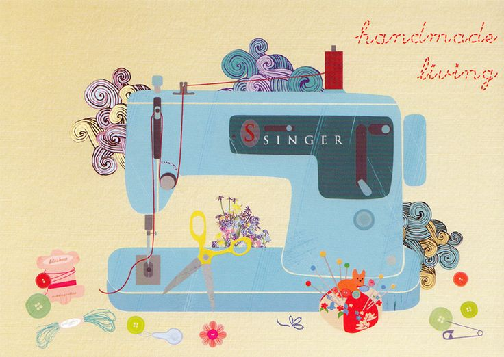 Postkarte handmade EliSandra von Franz & Emma  auf DaWanda.com