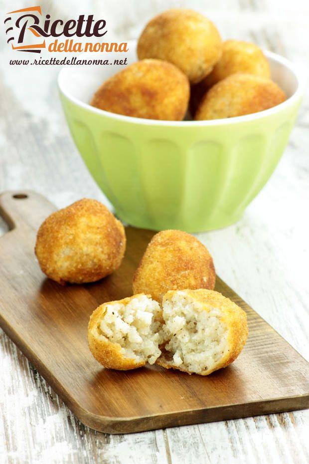 Suppli Cacio e Pepe - Rice balls with cheese and pepper