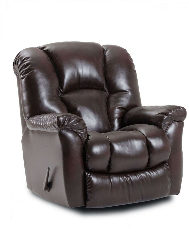 Relax in our plush oversized Homestrech Rocking Recliner! This recliner features a full chaise pad and a rich bonded leather covering for maximum comfort.  sc 1 st  Pinterest & 123 best Recliners images on Pinterest | Recliners Rockers and Plush islam-shia.org