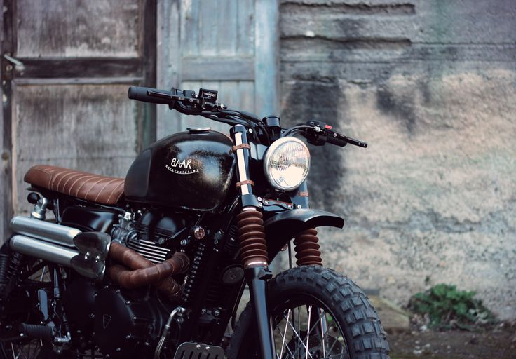 Triumph Scrambler by BAAK. All the parts were handcrafted at our workshop. Real shops make their own parts.