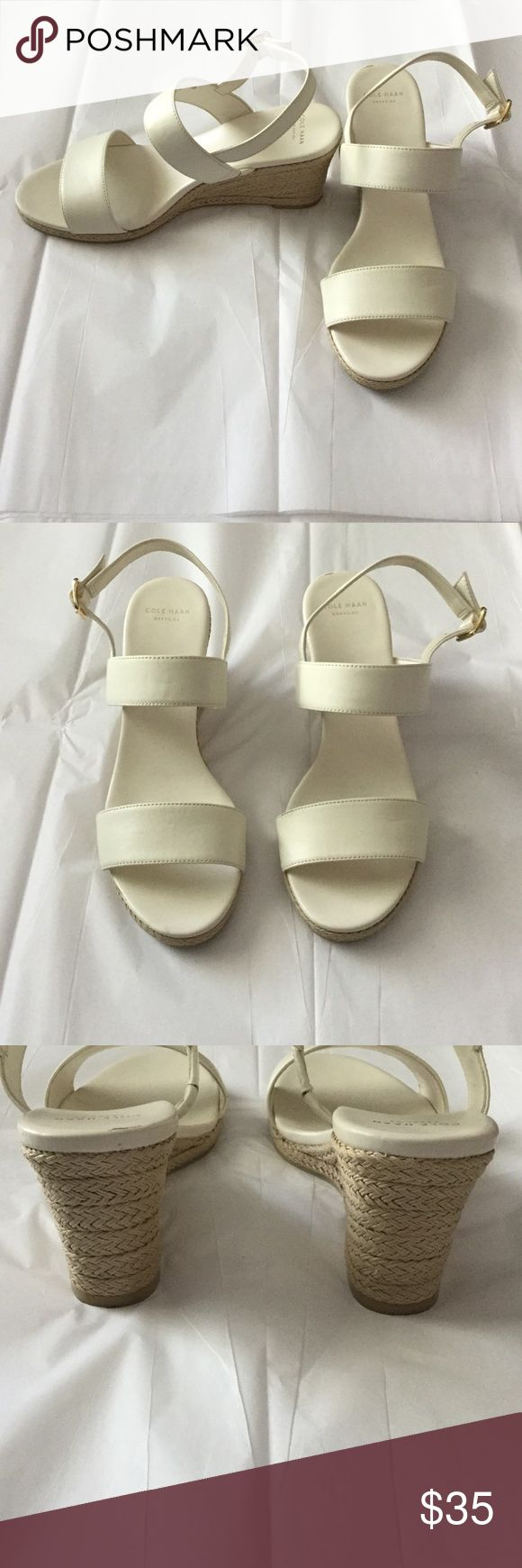 Cole Haan white espadrille wedges. Like new Perfect condition Cole Haan Shoes Espadrilles