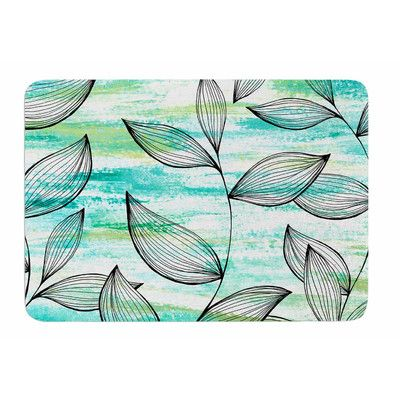 East Urban Home Tropical Leaf Garden by Jessica Wilde Memory Foam Bath Mat