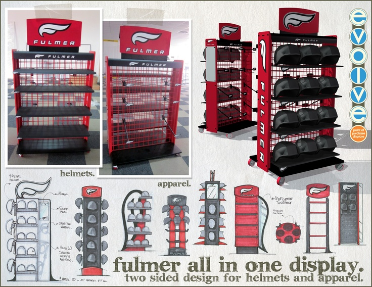 This is a display we did for Fulmer Helmets. It was one of those great little ideas that started small and ended BIG.