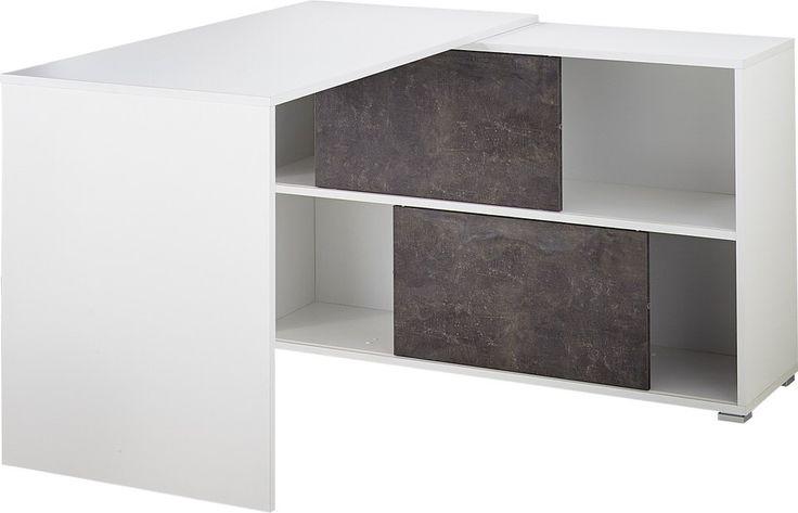 Dit leuke werkkamer kun je omschrijven als degelijk, praktisch, kwalitatief en stijlvol. Het ontwerp is eenvoudig en biedt de ruimte die jij nodig hebt achter een bureau. De opbergkast is voorzien van schuifdeuren waardoor je zelf met de indeling kunt spelen. Deze schuifdeuren hebben een speelse marmerlook uitgevoerd in basalt grijs en zorgen voor een leuk contrast. Verder is het Bureau Altino uitgevoerd in mat wit en afgewerkt met melamine en ABS randen. Het bekende meubelmerk Germania…