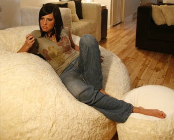 this is a Love Sac,,,,the movie sac to be exact..Love it!! around 700.00 will get you one of these!! www.lovesac.com