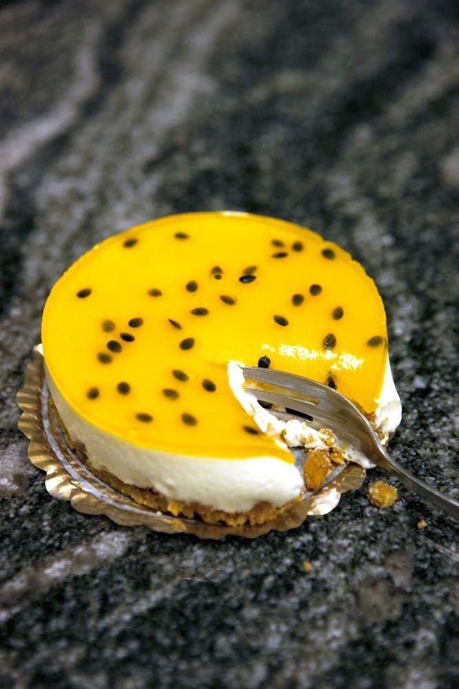 Frozen cheesecake med passionsfrukt