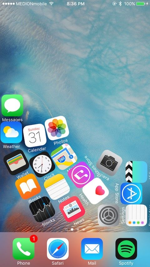 Make iPhone app icons react to the force of gravity with
