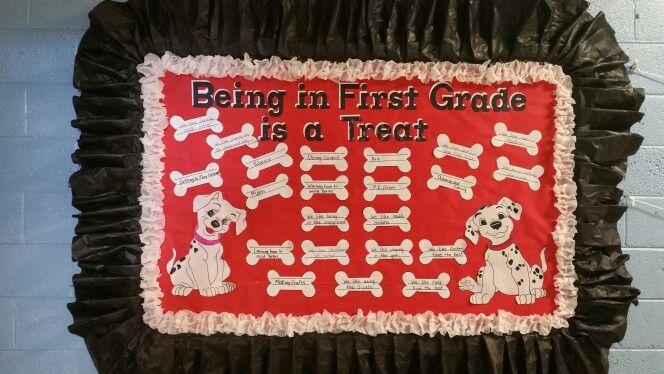Dalmatian dogs bulletin board idea.