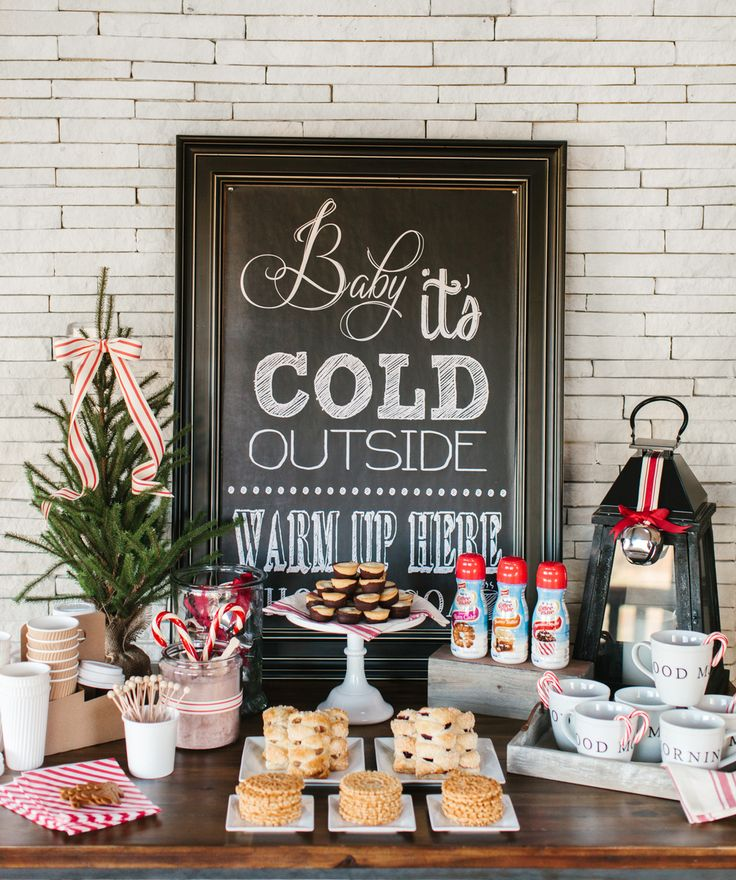Surprise your holiday guests with a coffee and hot chocolate bar this season!