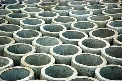 concrete circles for garden
