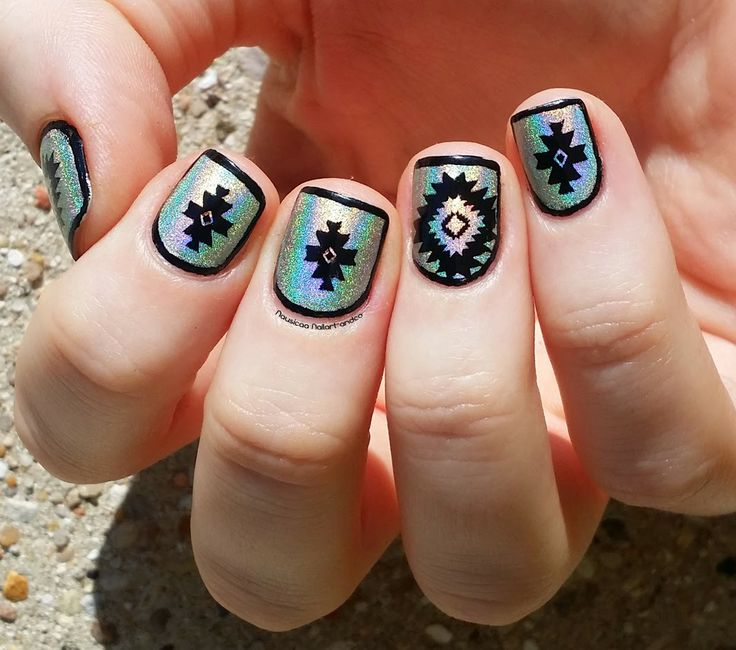 Nail Art and Co: Nailstorming #56 Framed Nails · Native AmericanCurly . -  Native - Native American Nail Designs Graham Reid
