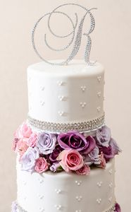 HUGE Cyber Monday deals on Wedding Monogram Cake Toppers!! #swarovski #cybermonday